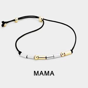 Mama Morse Code Bracelet